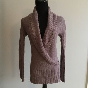 LOFT purple v-neck sweater